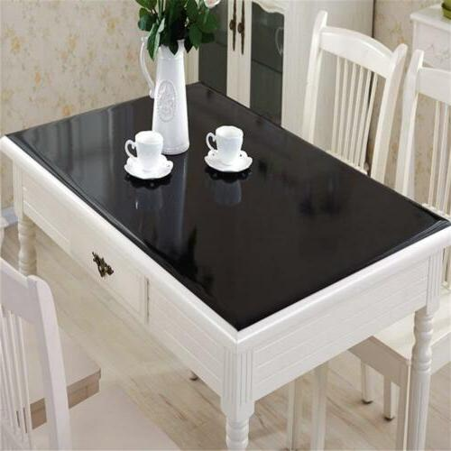 OstepDecor Black Plastic Table Top Protector Tablecloth Cove