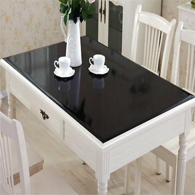 black plastic table top protector tablecloth cover
