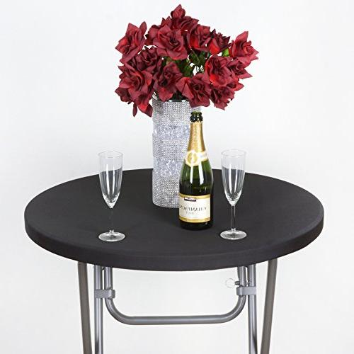 black spandex cocktail table stretch