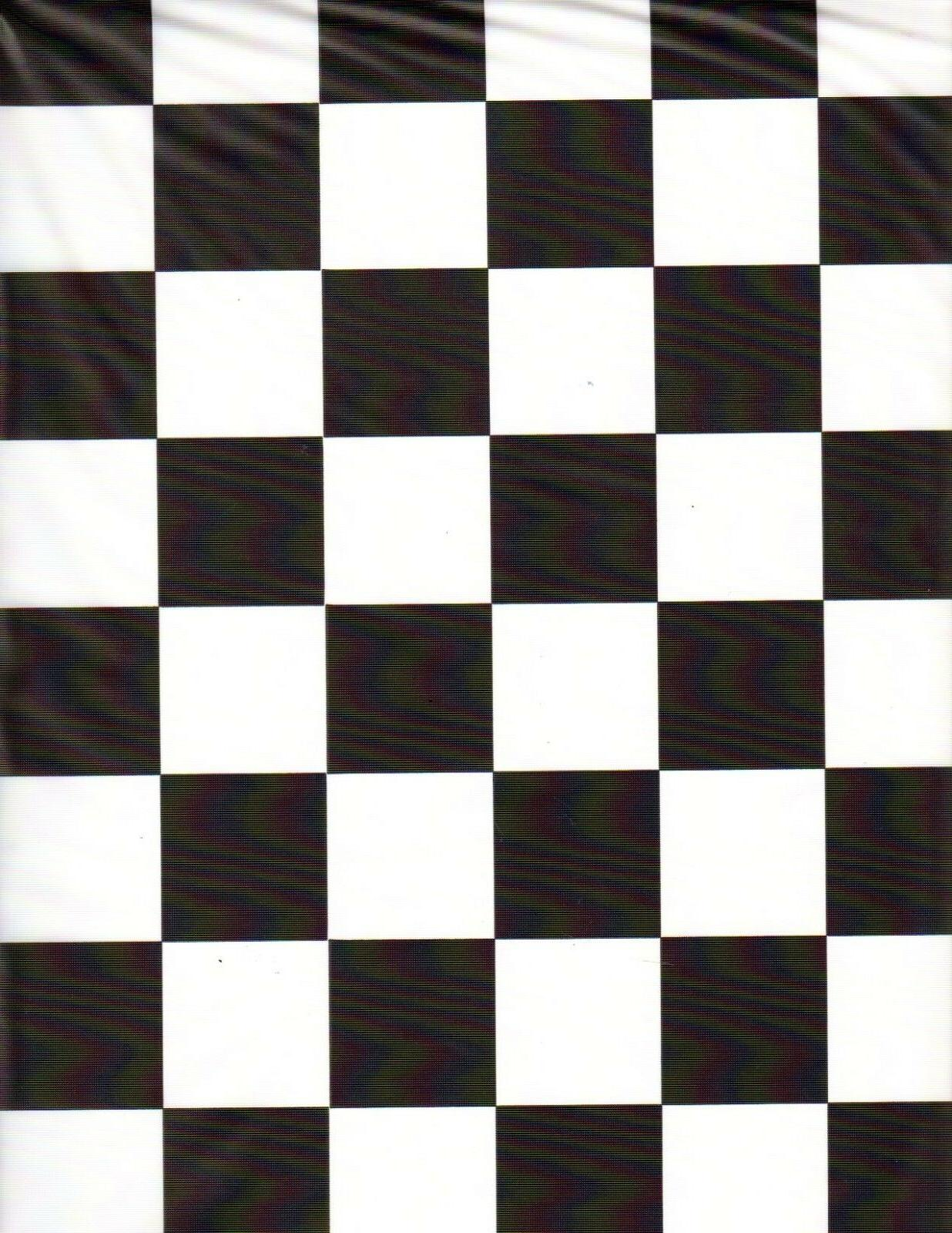 "Black and White Checker table cover tablecloth plastic 84"" r"