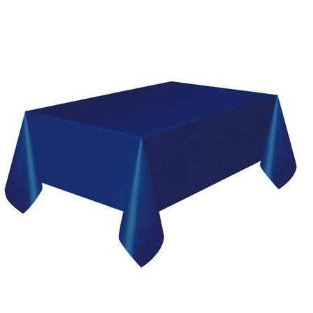 blue 12 packs plastic tablecloth