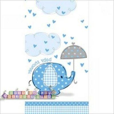 Blue Baby Boy Shower Party SWEET UMBRELLA ELEPHANT TABLECOVE
