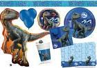 BLUE Jurassic World Birthday Party Tableware Dinosaur Decora