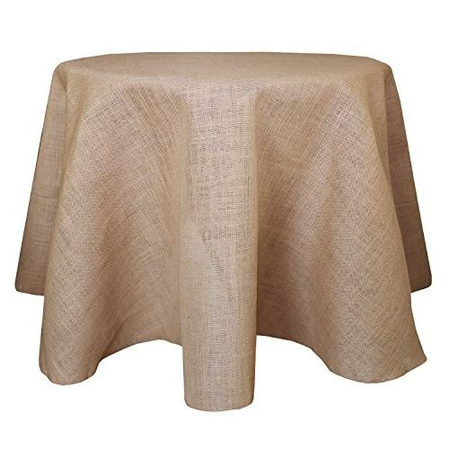 burlap round jute tablecloth