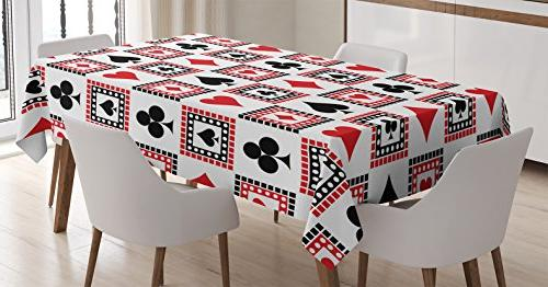 casino decorations tablecloth