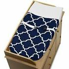 Sweet Jojo Changing Table Pad Cover For Navy and White Trell
