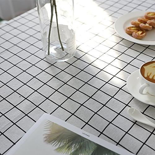 ColorBird Plaid Water Resistant Table Kitchen Dinning