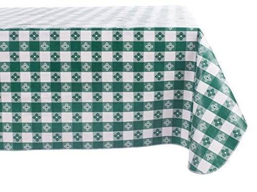 checkered vinyl tablecloth