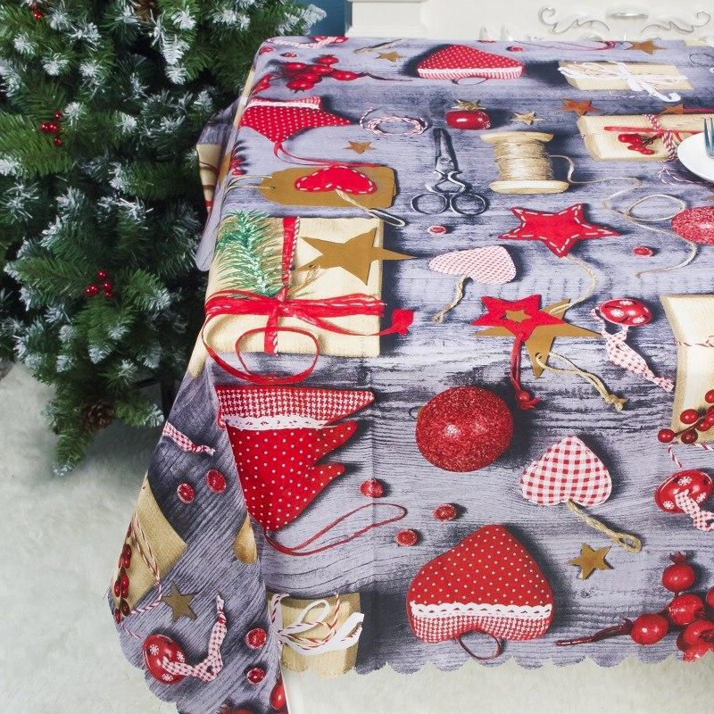Christmas Decorative <font><b>Table</b></font> Santa Cloth