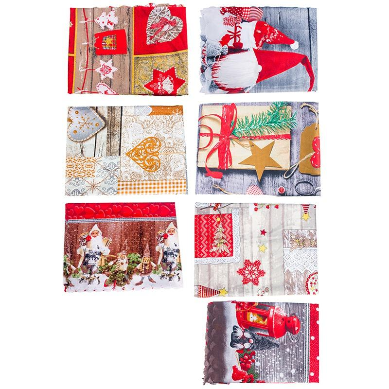 Christmas Dinner Tablecloth Decorative <font><b>Table</b></font> Dinning Hall Decoration Santa Pattern <font><b>Table</b></font>