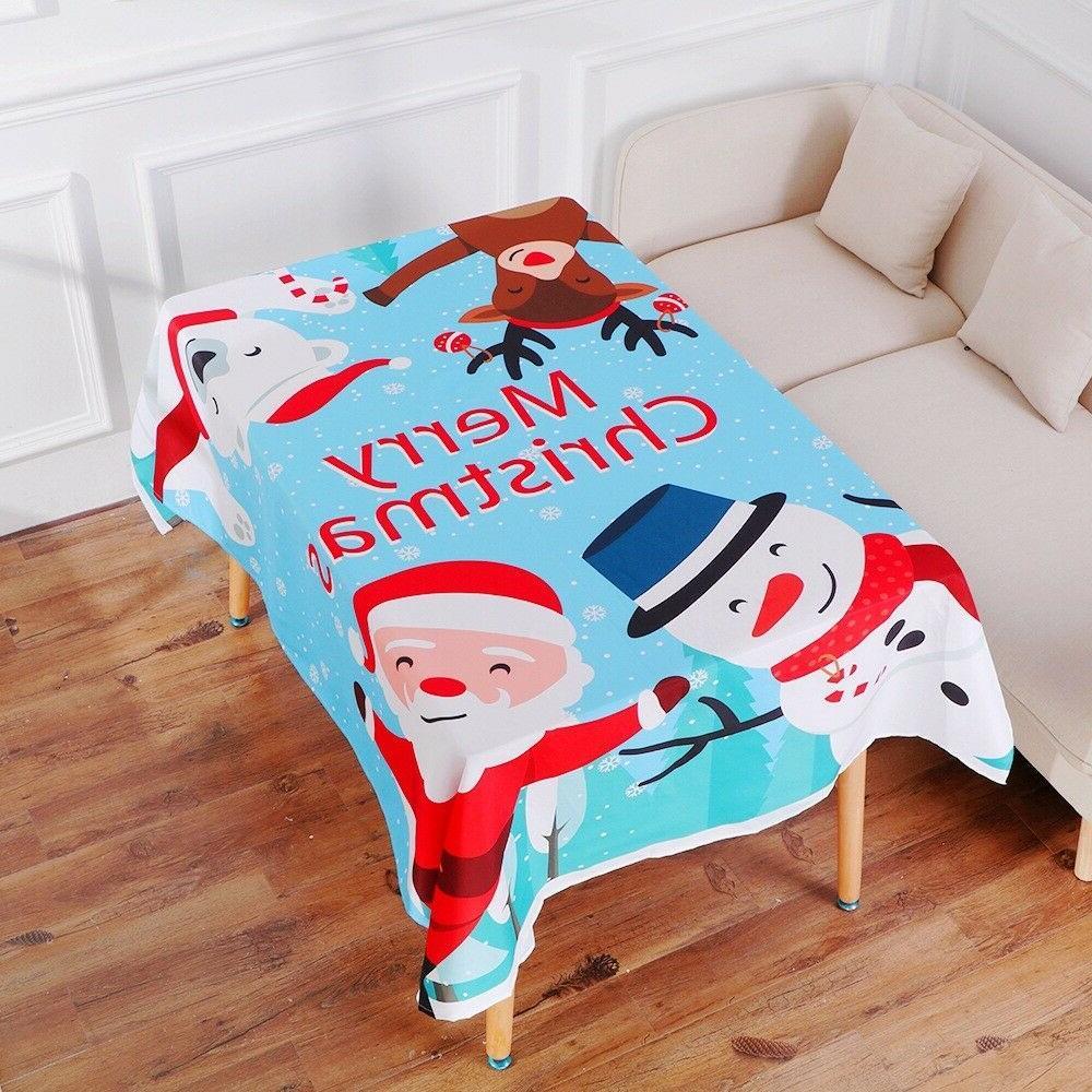 christmas table cloth and 3 xmas chair