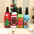 Christmas Wine Bottle Cover Knitted Bag Xmas Party Dinner Ta