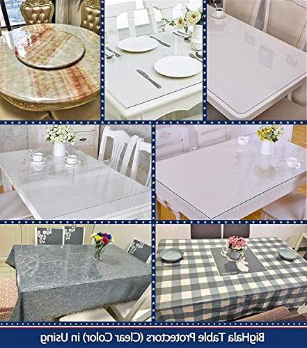 Square Clear Table Protector Eco Protective Cover Waterproof Roll Vinyl Dining Liner Pad