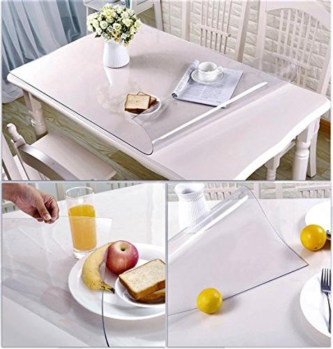 Wipeable Vinyl Furniture Covers Kitchen Top End Desk Pads PVC Roll Small White 16 16 2 Set