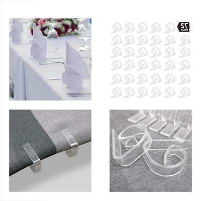 clear plastic tablecloth clips picnicking
