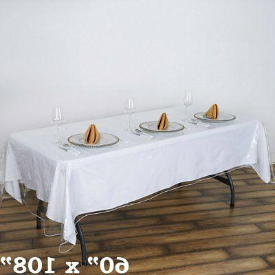 Clear TABLECLOTH Cover Wedding Party