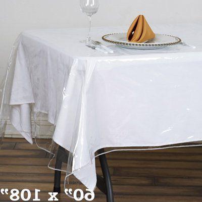 clear plastic vinyl 60x108 tablecloth protector table