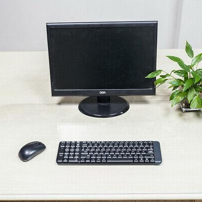 PVC Clear Soft Glass Protector Desk Mat Desktop Rectangle Di