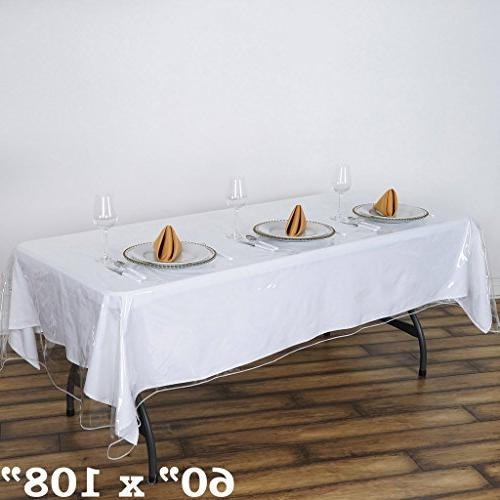BalsaCircle x Clear Tablecloth Protector Table Linens Wedding Party