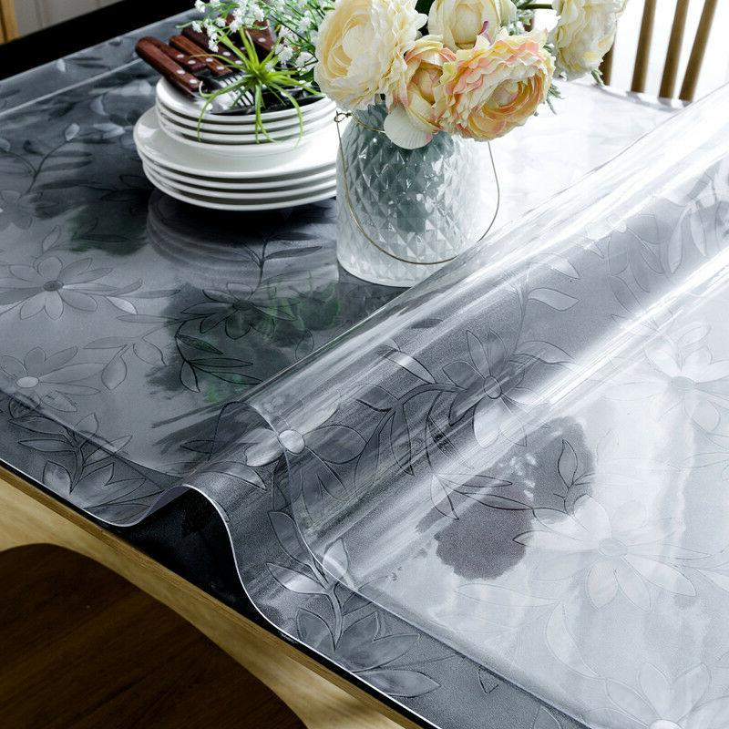 Rectangle Clear Soft PVC Glass Dinning Table Cover Protector