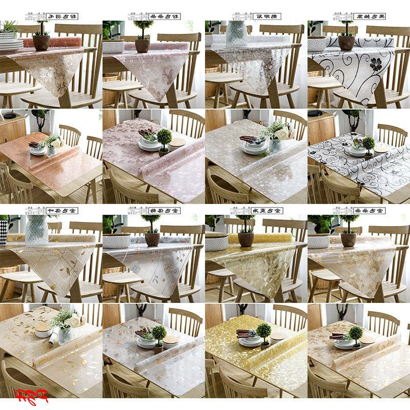 clear soft pvc glass dinning table cover