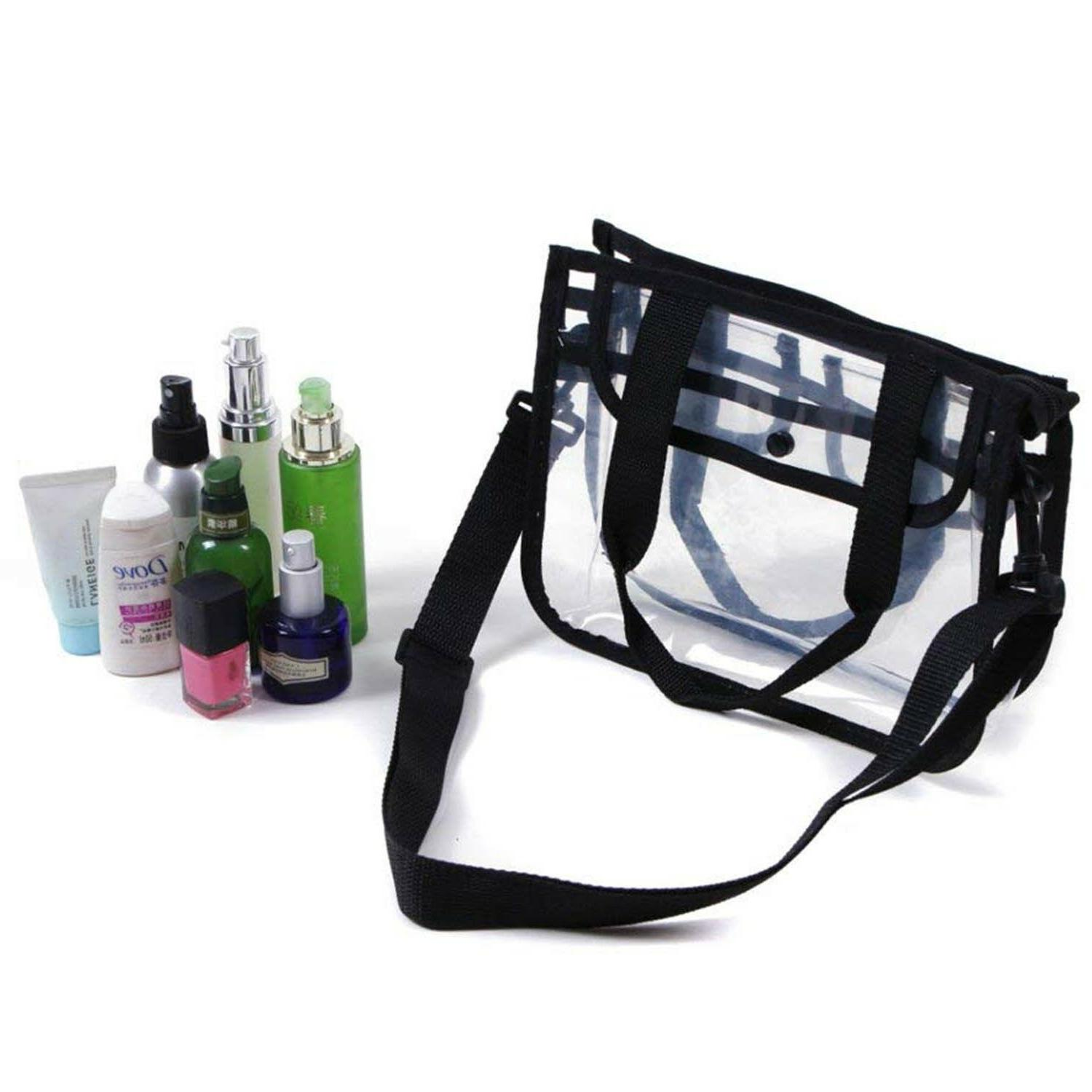 clear tote bag small shoulder carrying travel