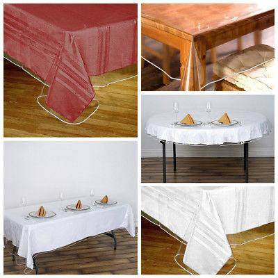 clear vinyl plastic tablecloth protector table cover