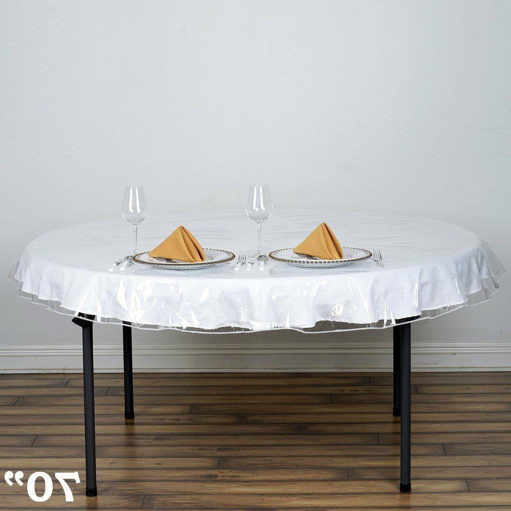 Plastic Table Cover Spills Protector 70