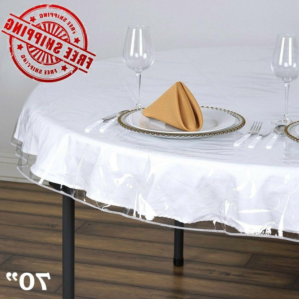 clear vinyl tablecloth durable plastic table cover