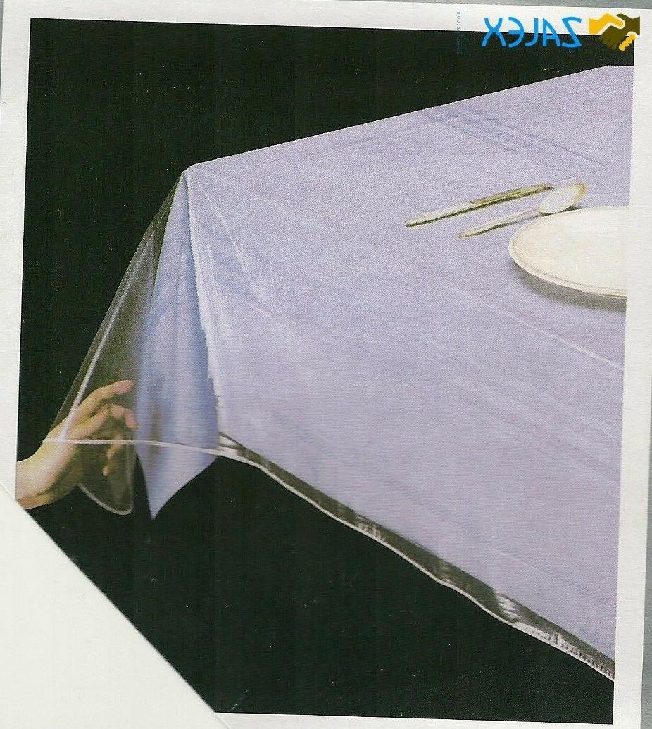 clear vinyl tablecloth durable plastic