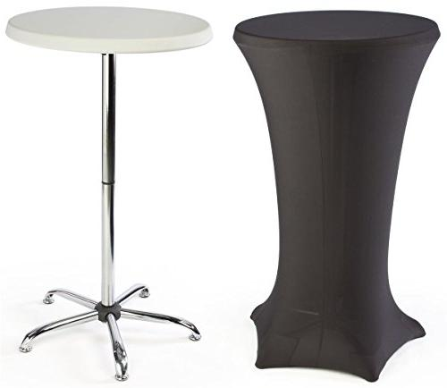 cocktail tables feature a black