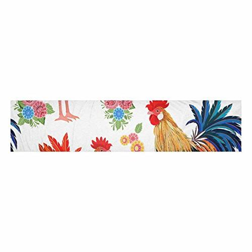 Artsadd Colorful And Flowers Kitchen Table 14x72 For Decor