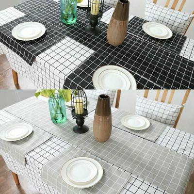 Cotton Linen Plaid Tablecloth Checked Kitchen Table Cloth Co