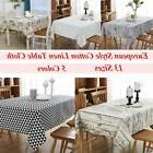 Cotton Linen Rectangle Tablecloth Wood Dining Table Cloth Co