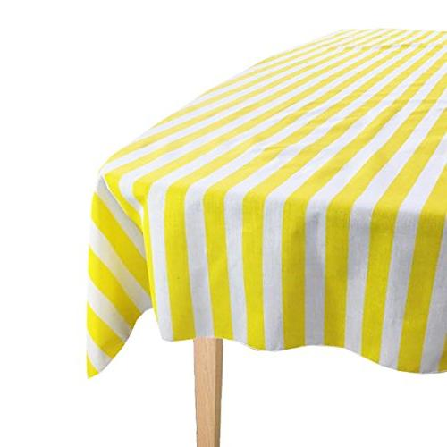 cotton striped overly tablecloth