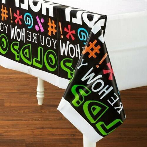 Creative Converting - Holy Bleep Plastic Tablecover