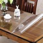 OstepDecor Custom 1.5mm Thick Crystal Clear PVC Table Cover