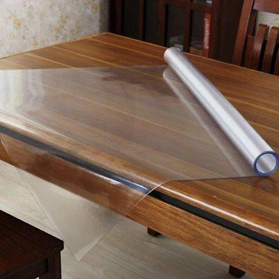 OstepDecor Custom 1.5mm Frosted PVC Table Protector Desk  