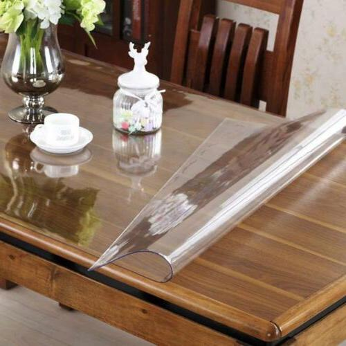 custom 2mm thick crystal clear dining room