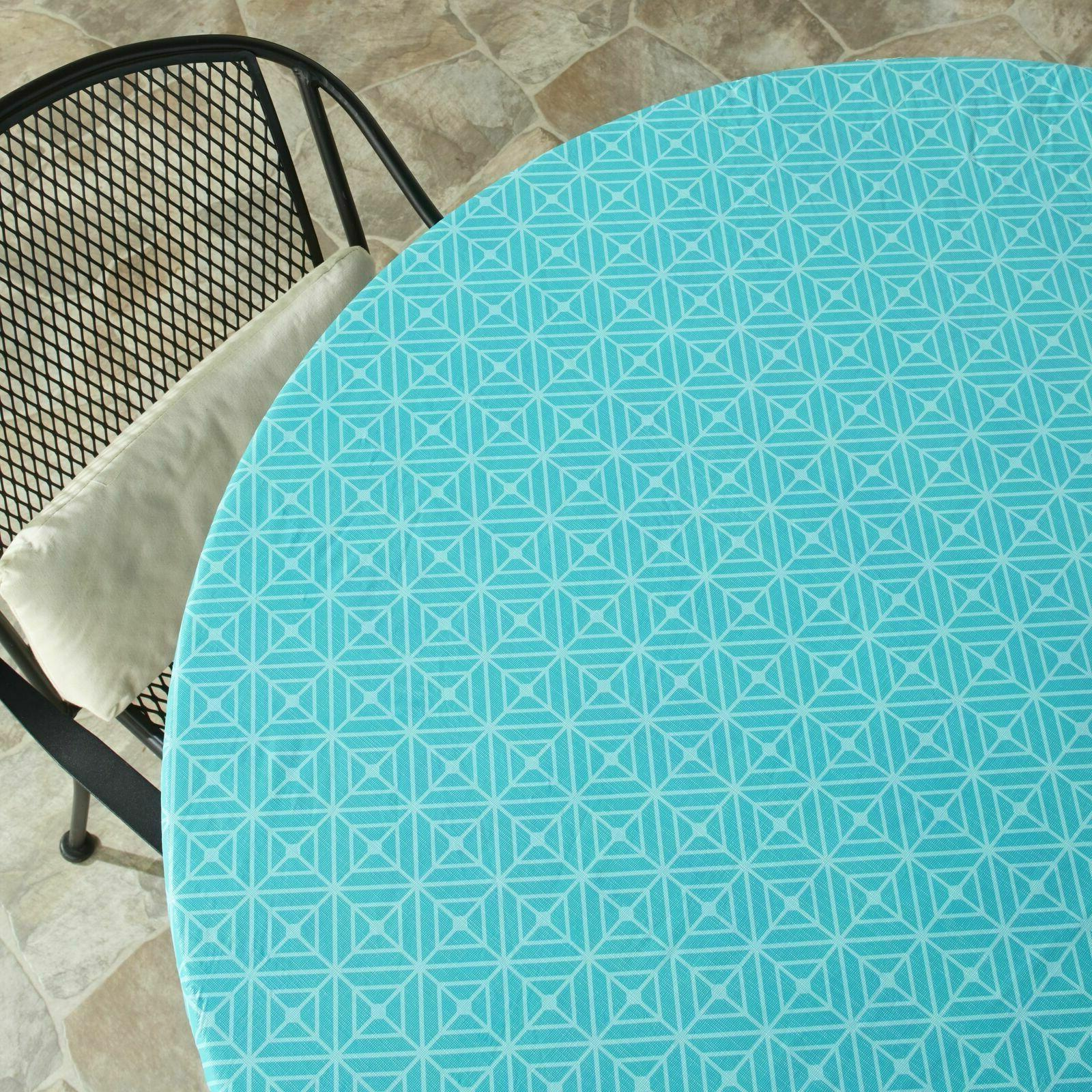 """Custom-Fit ROUND Table Covers Tablecloths for up to 48"""" w/ E"""