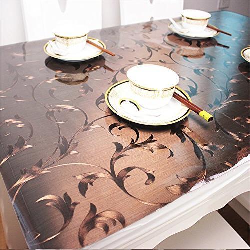 custom plastic tablecloth vinyl cover