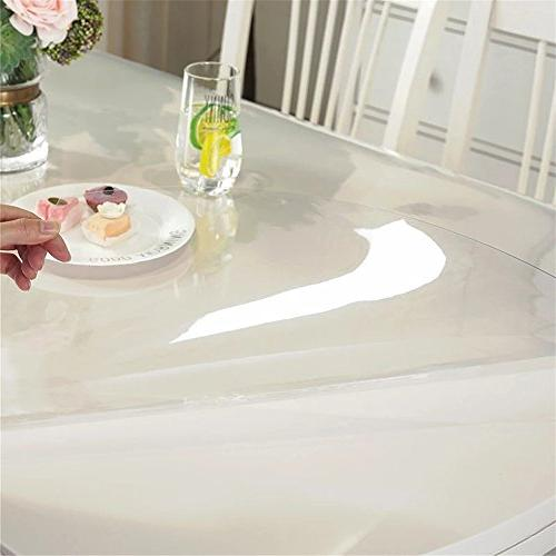 OstepDecor Custom 1.5mm Thick Crystal Protector Kitchen Dining Room Protective Round Inches