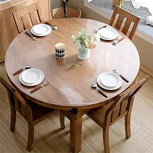 OstepDecor 1.5mm Crystal Clear Dining Wood Furniture Protective | Round Inches