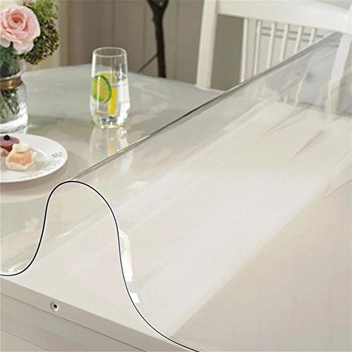 OstepDecor Custom Crystal Table Protector Plastic Dining Protective Pad Round Inches