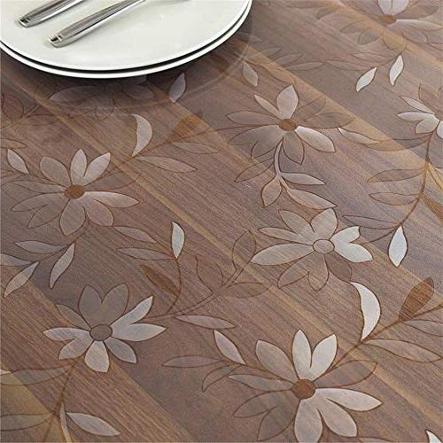 OstepDecor Floral Table Dining Plastic Room Wood Cover x 60