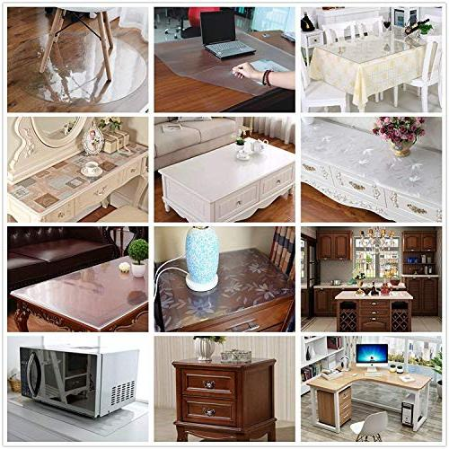 OstepDecor Floral Protector Dining Room Plastic Room Wood Furniture Cover   Rectangular