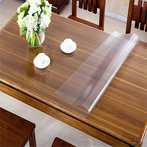 custom thick frosted pvc table