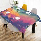 InterestPrint Custom Watercolor Palm Trees Tablecloth Cotton