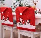 Christmas Santa Snowman Chair Back Cover Holiday Home Party