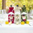 Cute Xmas Dining Table Decor Santa Claus Snowman Wine Bottle